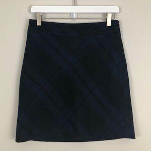 Ann Taylor LOFT Wool Blend Plaid Mini Skirt